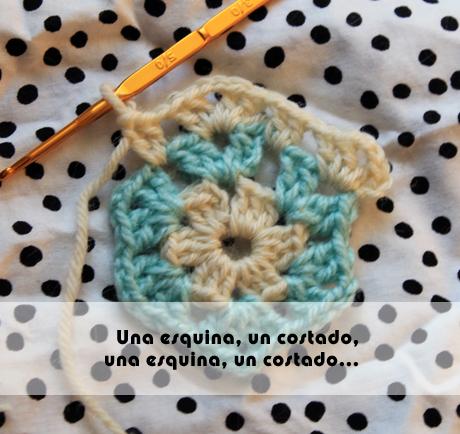 cómo tejer un hexágono a crochet