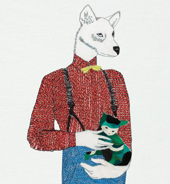 lobo bordado