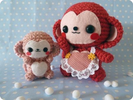 manualidades de monos amigurumi
