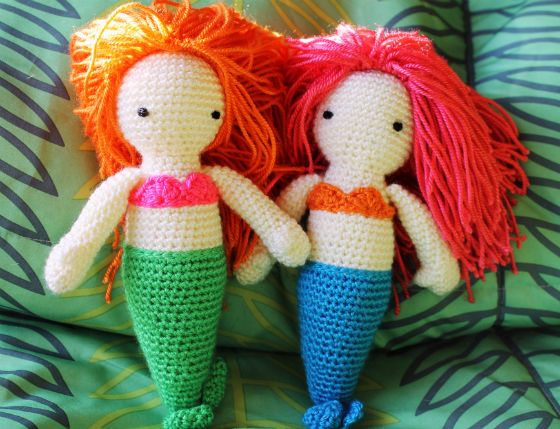 Amigurumi mermaid pattern Corriendo con Tijeras